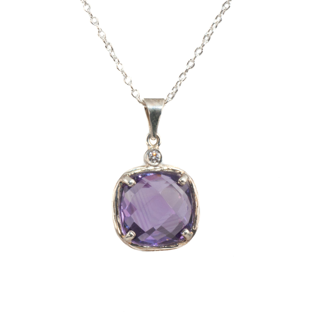 Riverbend Collection Sterling Amethyst Pendant