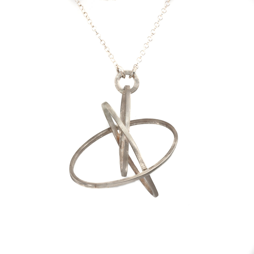 "Mysterium Collection Sterling ""3 Overlapping Orbits"" Necklace"