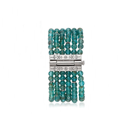 Anatoli Collection Apatite 6-Strand Bracelet