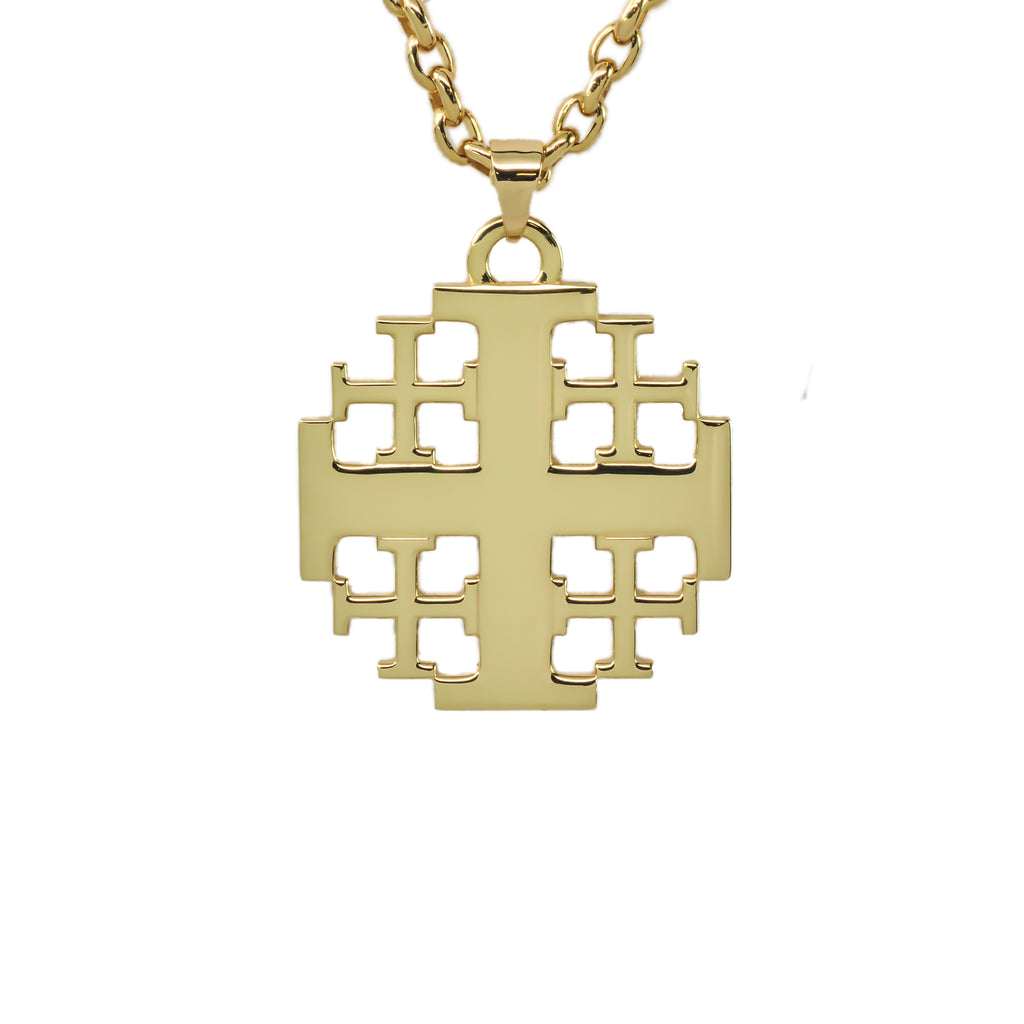 Jerusalem Cross in 14k Yellow Gold