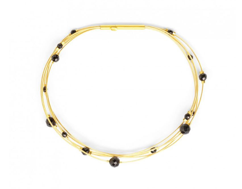 "Bernd Wolf Collection ""Fasina"" Black Spinel Bracelet"