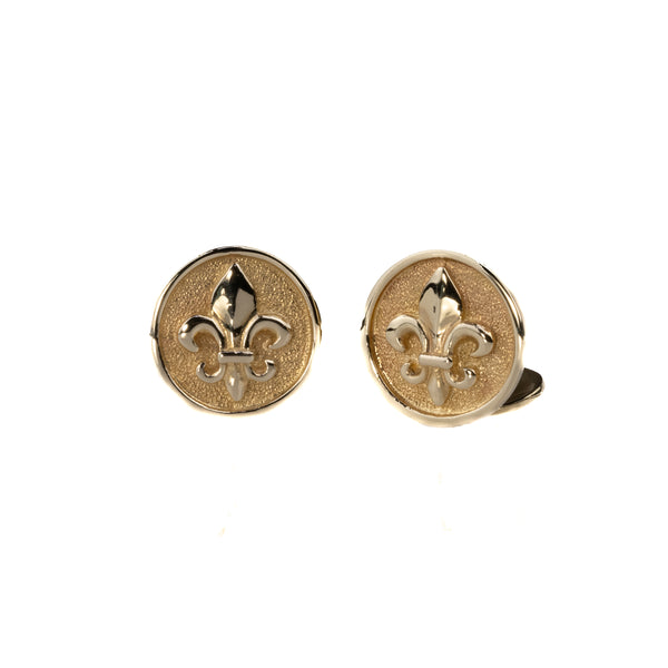 Symmetry Jewelers Fleur De Lis Cuff Links