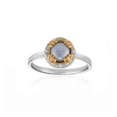Anatoli Collection Gray Freshwater Pearl Ring (sml)