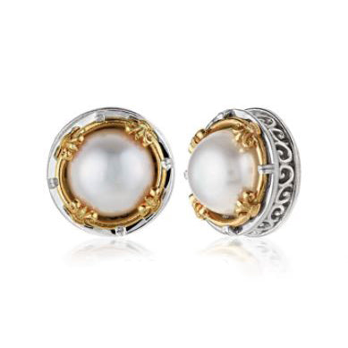 Anatoli Collection White Pearl Earrings