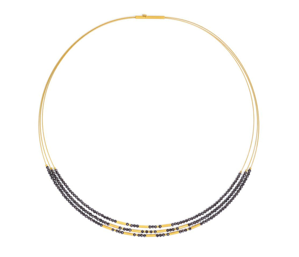 "Bernd Wolf Collection ""Clani"" Black Spinel Necklace"