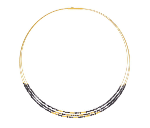 Bernd Wolf Collection Black Spinel Necklace