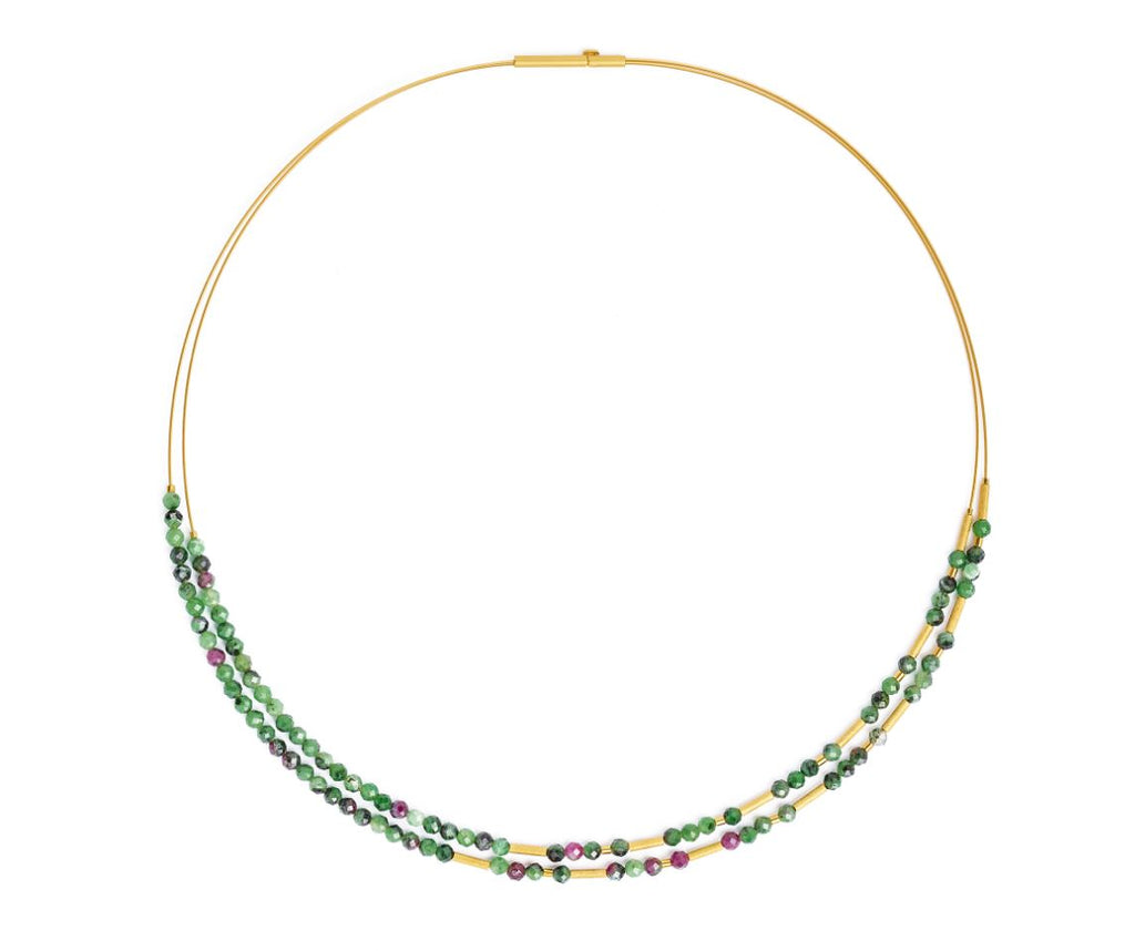 "Bernd Wolf Collection ""Clinzo"" Ruby-Zoisite Necklace"