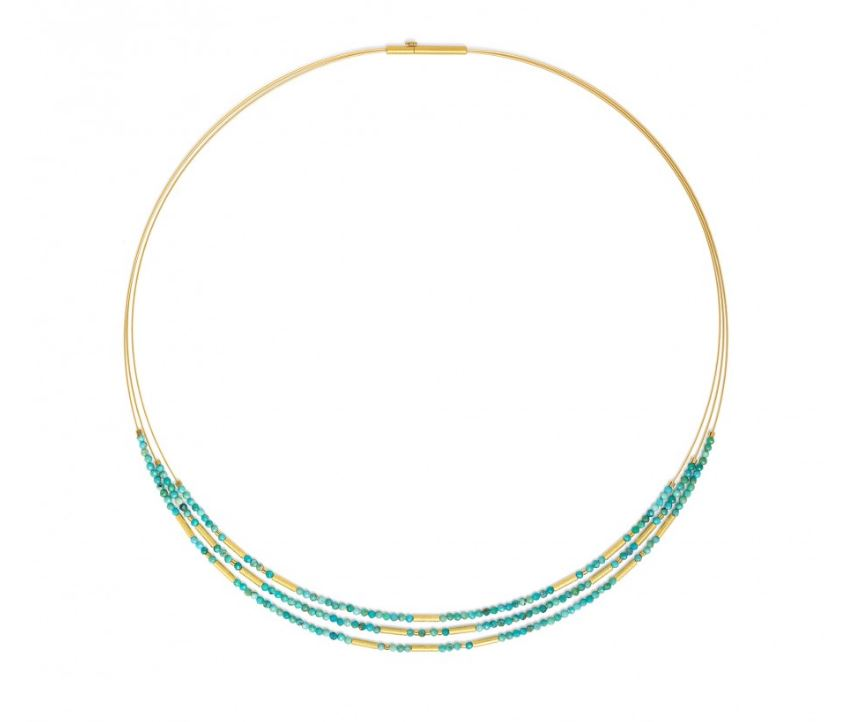 "Bernd Wolf Collection ""Clivia"" Turquoise Necklace"