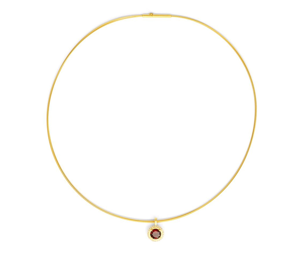 Bernd Wolf Collection Garnet Necklace