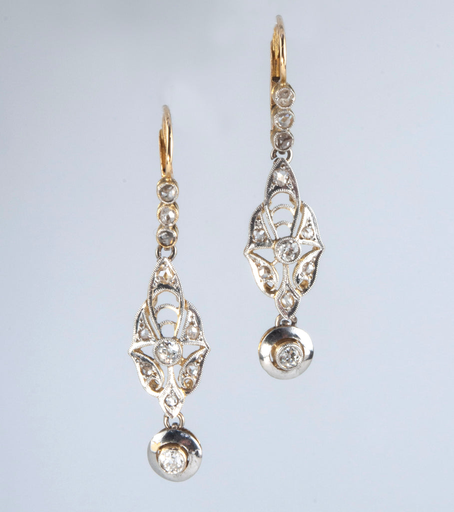 Estate Collection Antique Diamond Earrings