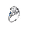 Estate Collection Art Deco 1.27CT Diamond & Sapphire Ring