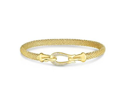 Phillip Gavriel Collection 14K Mesh Bracelet with Diamonds