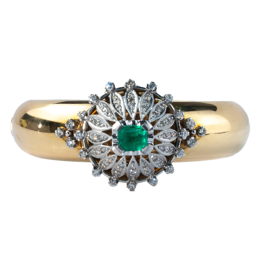 Estate Collection Antique Emerald & Diamond Bracelet