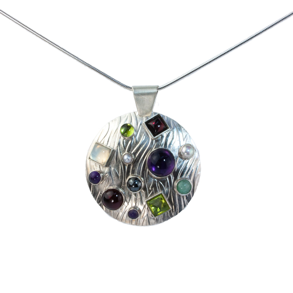 Vitrice McMurry Sterling Silver Bubble Pendant
