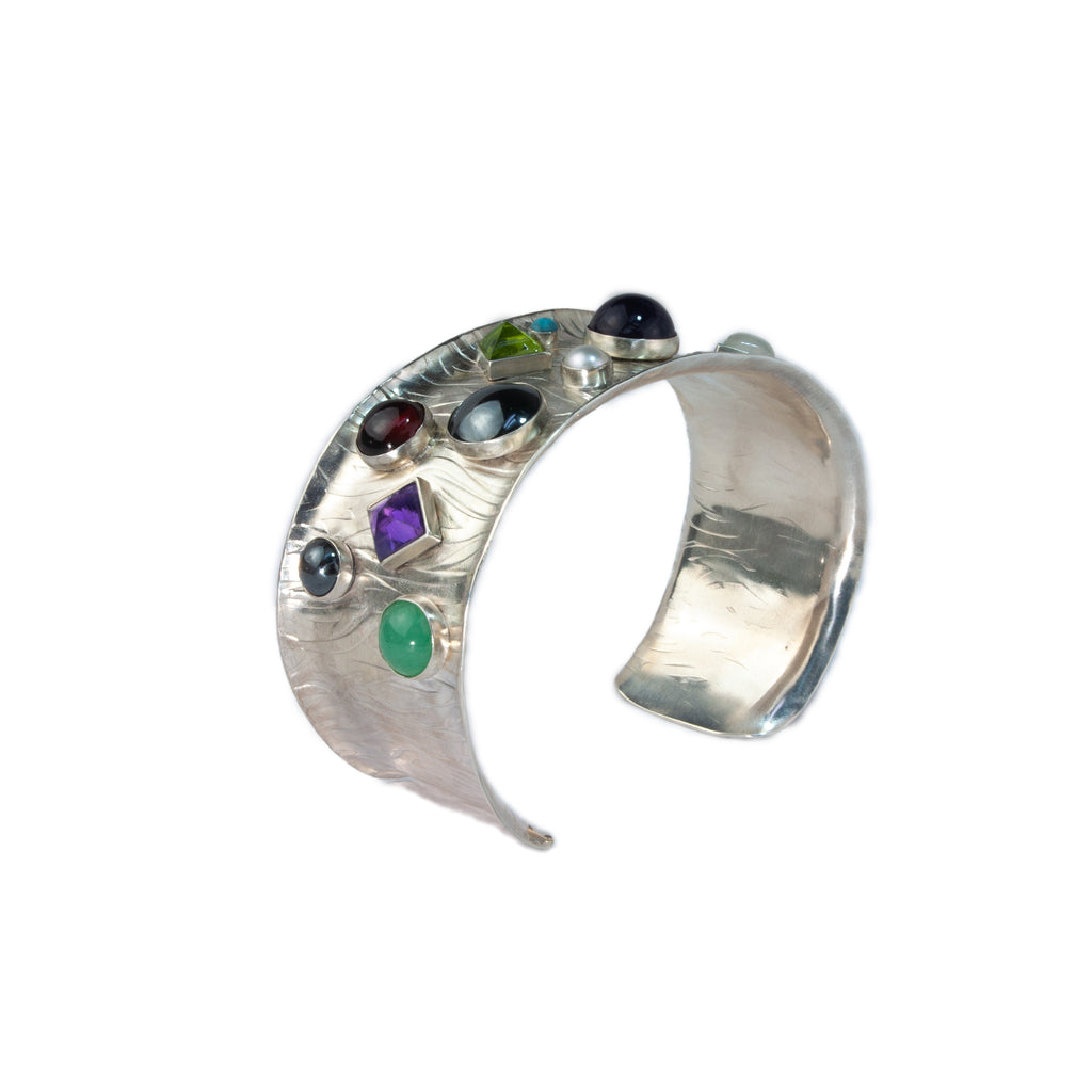 Vitrice McMurry Sterling Silver Bubble Cuff