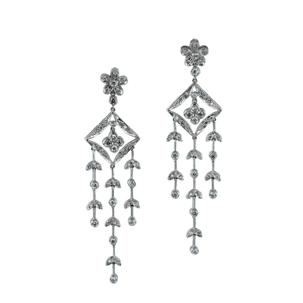 Estate Collection 1.48CT Diamond Chandelier Earrings
