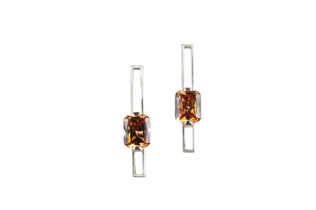Mysterium Collection Cubic Zirconia Sterling Silver Earrings