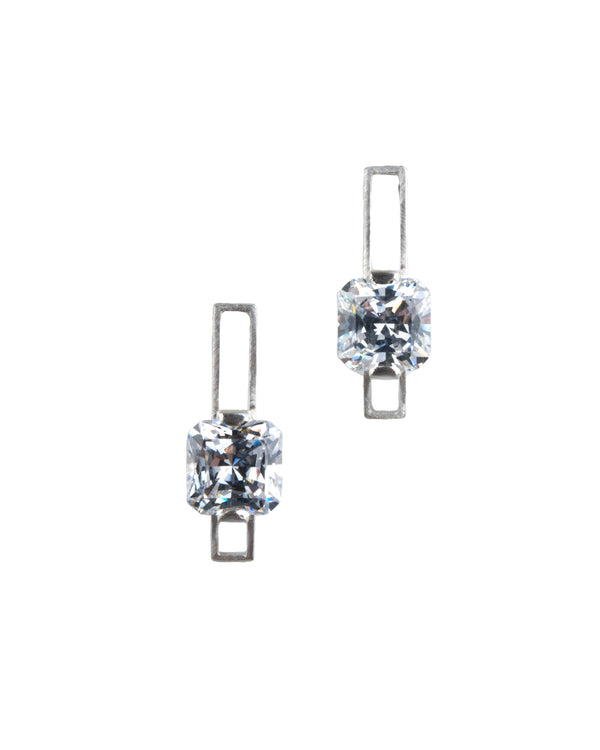 Mysterium Collection Sterling Silver Cubic Zirconia Earrings