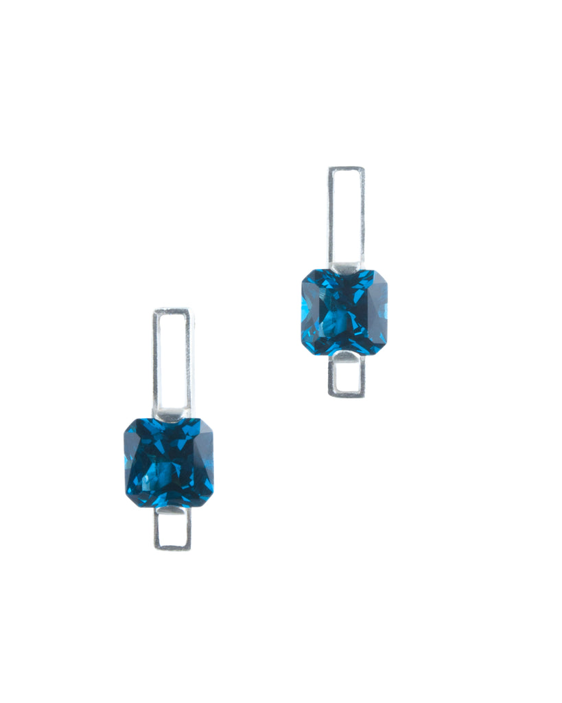 Mysterium Collection London Blue Spinel Earrings
