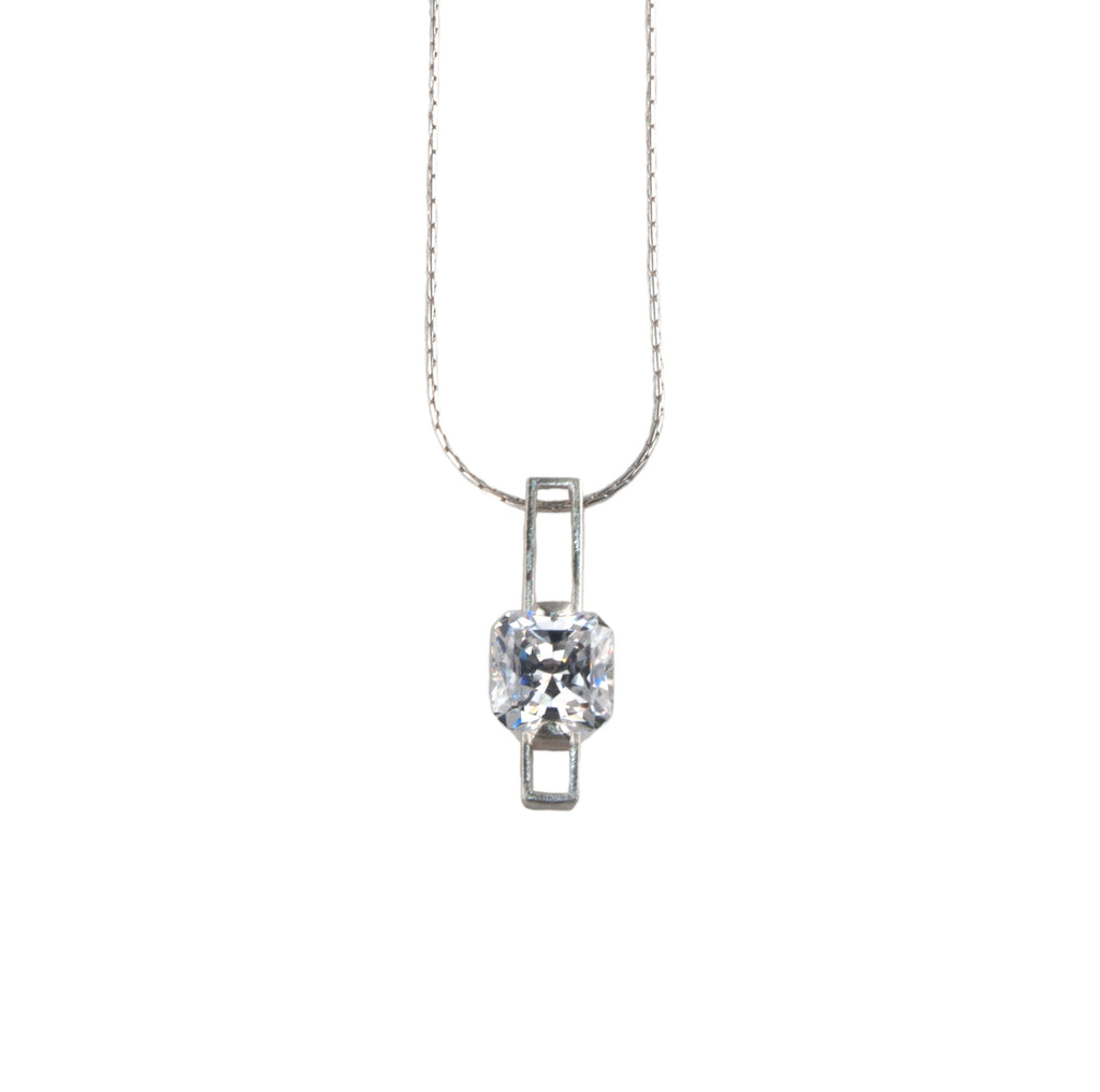 Mysterium Collection Cubic Zirconia Sterling Silver Pendant