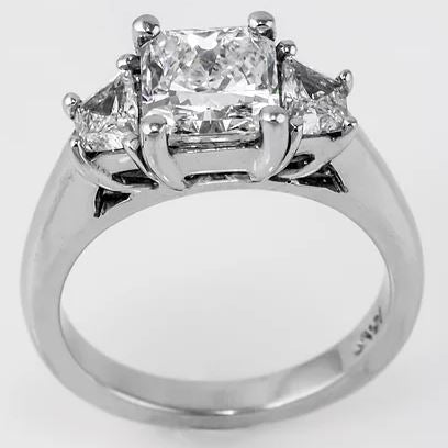 Estate Collection 3 Stone Diamond Engagement Ring