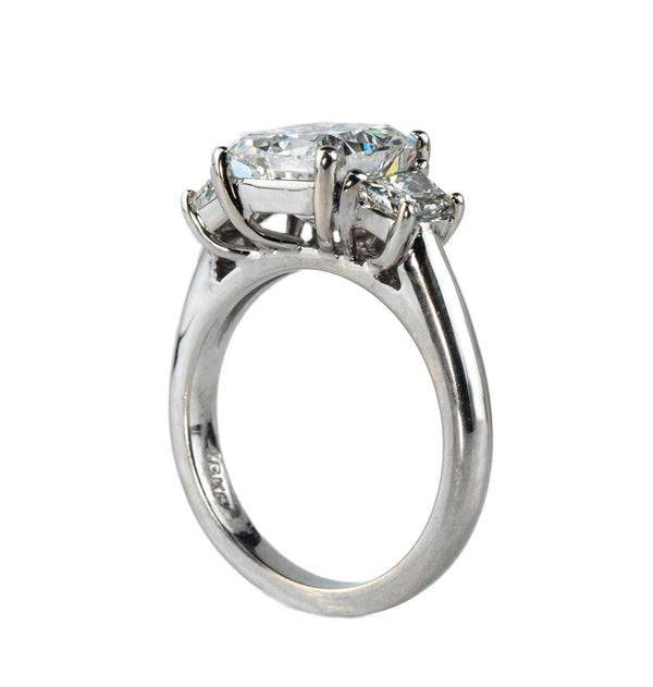 Estate Collection Platinum 3 Stone Diamond Engagement Ring