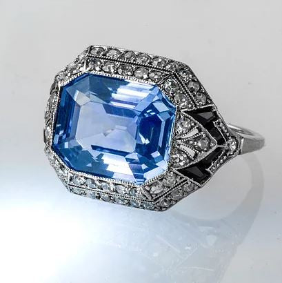 Estate Collection Art Deco Ceylon Sapphire Ring