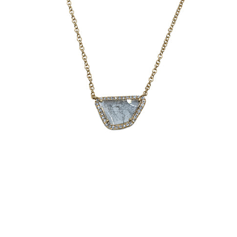 Majolie Collection Yellow Gold Diamond Slice Necklace