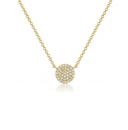 Majolie Collection Yellow Gold Diamond Pave Necklace (Med)