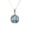 Riverbend Collection Sterling Blue Topaz Pendant