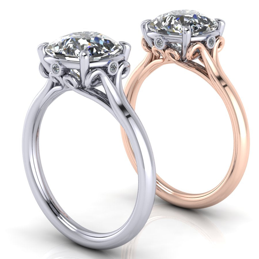 Tom Mathis Designs Platinum & Rose Gold Engagement Ring