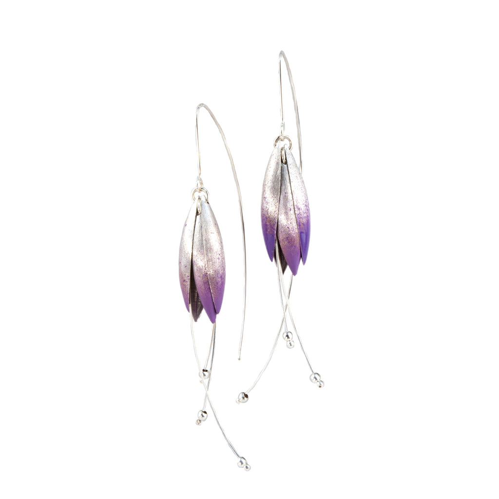 Mysterium Collection Sterling Silver Tulip Petal Earrings