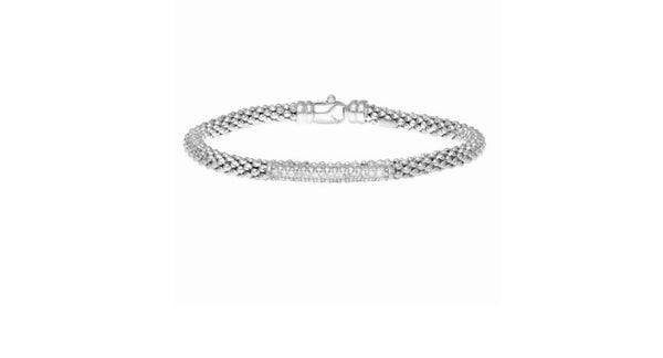 Phillip Gavriel Collection Sterling Silver Bracelet with Diamond Bar
