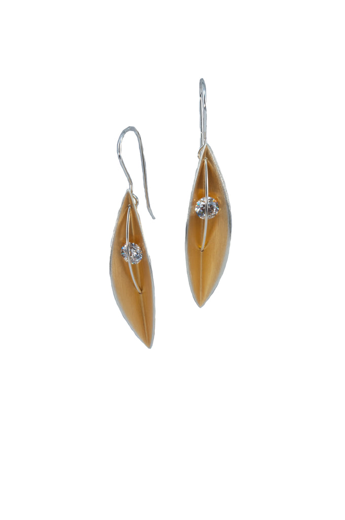 Mysterium Collection Vermeil Leaf Earrings