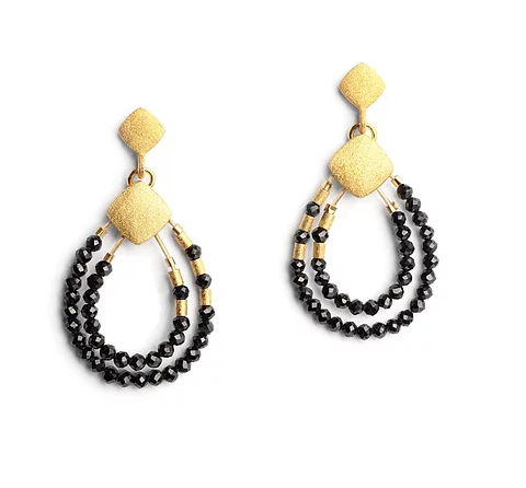Bernd Wolf Collection Black Spinel Earrings