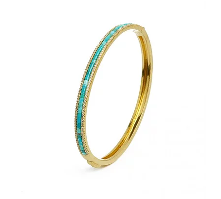 "Bernd Wolf Collection ""Abandi"" Turquoise & CZ Bangle"