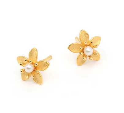 "Bernd Wolf Collection ""Bloomini"" Pearl Earrings"