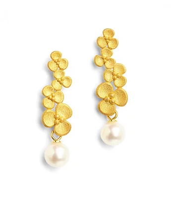 "Bernd Wolf Collection ""Fleury"" Pearl Earrings"