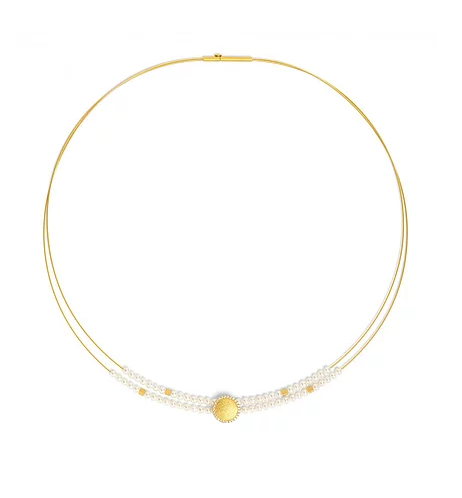 "Bernd Wolf Collection ""Suntini"" Pearl & CZ Necklace"