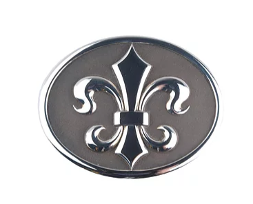Tom Mathis Designs Sterling Silver Fleur de Lis Belt Buckle