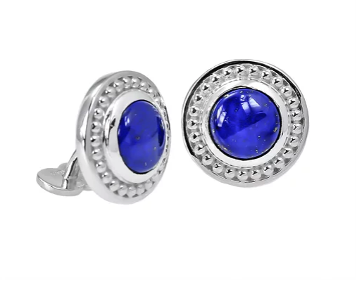 Tom Mathis Designs Sterling Silver Lapis Cuff Links