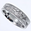 Tom Mathis Designs Platinum Hand-Carved Band