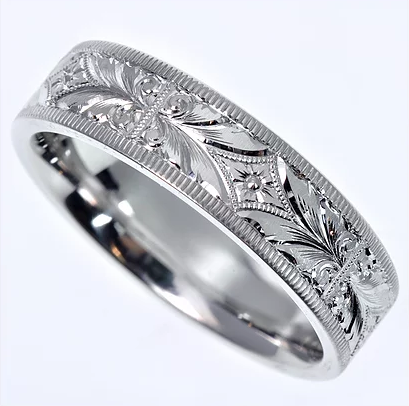 Tom Mathis Designs Platinum Hand-Carved