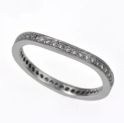 Tom Mathis Designs 18K White Palladium Diamond Band