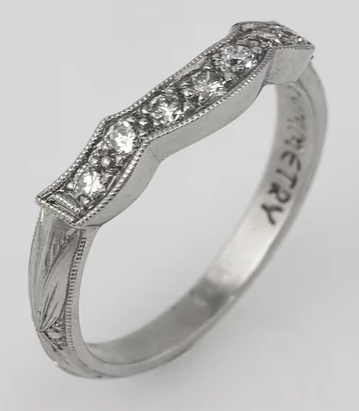 Tom Mathis Designs Platinum Diamond Guard Band