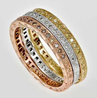Tom Mathis Designs 18K Yellow Gold Diamond Band