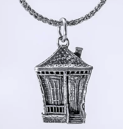 Tom Mathis Designs Sterling Silver Shotgun House Charm