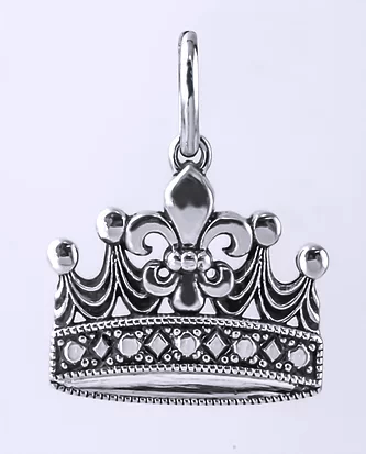 Tom Mathis Designs Sterling Silver Mardi Gras Crown Charm