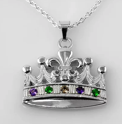 Tom Mathis Designs Sterling Silver Mardi Gras Crown