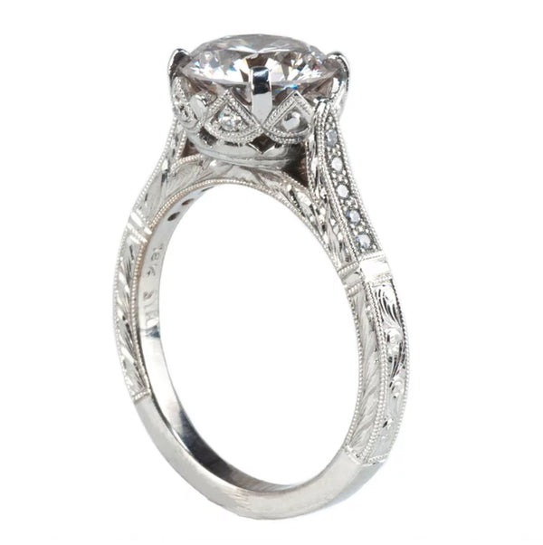 Tom Mathis Designs 1.82CT Lab-Created Diamond Engagement Ring